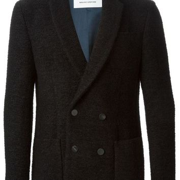 DCCKIN3 Mauro Grifoni double breasted peacoat