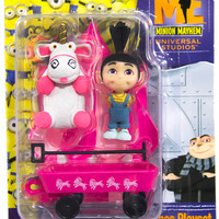 Authentic Despicable Me Figures Agnes Playset Unicorn, Wagon & Fold Out Tent NEW