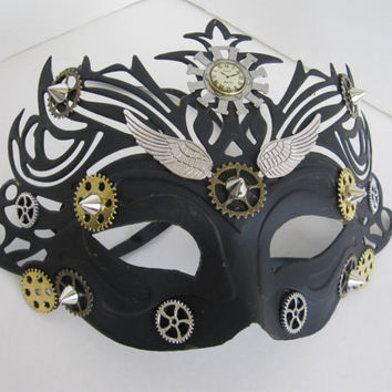 Cosplay Mask, Comicon, Steampunk Mask, Mardi Gras Mask, Fantasy Mask, Halloween Mask, Steampunk Costume, Masquerade Mask, By Lucky Steampunk