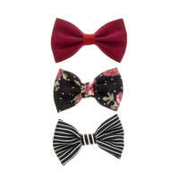 3 Pack Bow Hair Clips