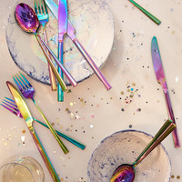 12-Piece Electroplated Flatware Set | Urban Outfitters