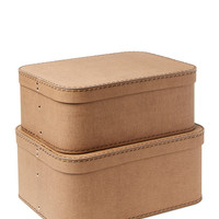Hewson Love Storage Bins (Set of 2) - Brown