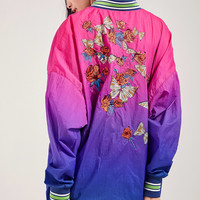 Silence + Noise Oversized Ombre Souvenir Jacket   Urban Outfitters