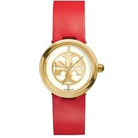 Tory Burch Red Leather/gold-tone, 28 Mm
