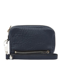 Alexander Wang Large Blue Fumo Pebble Wristlet | Accessories | Liberty.co.uk