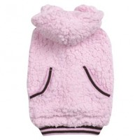 Casual Canine Polyester Snowbaby Dog Hoodie, Small, 12-Inch, Pink