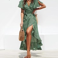 Marilyn Floral Dots Midi Dress