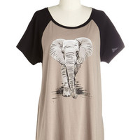 ModCloth Safari Long Short Sleeves Whatcha Gonna Do with All that Trunk? Tee
