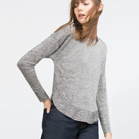 ROUNDED HEM TOP