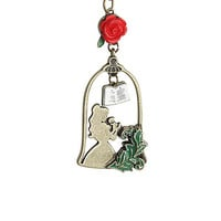 Disney Beauty And The Beast Story Frame Belle Necklace
