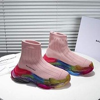 Balenciaga Trendy Woman Men Boots Fashion Breathable Sneakers Running Shoes-9