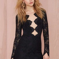For Love and Lemons Noir Lace Dress