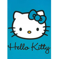 Hello Kitty Color Me Turquoise Queen Blanket - Free Shipping in the Continental US!