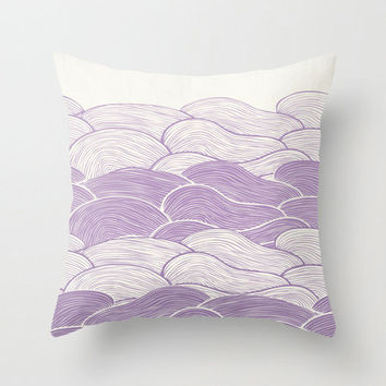 The Lavender Seas Throw Pillow for your home decor