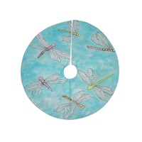 "Rosie Brown ""Dragonfly"" Tree Skirt"
