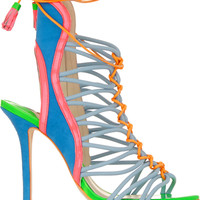 Sophia Webster - Lacey Baby color-block suede and patent-leather sandals