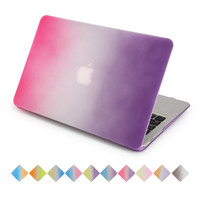 for apple macbook air 13 case rainbow gradient rose to purple air pro retina 11 12 13 15 inch with free keyboard cover
