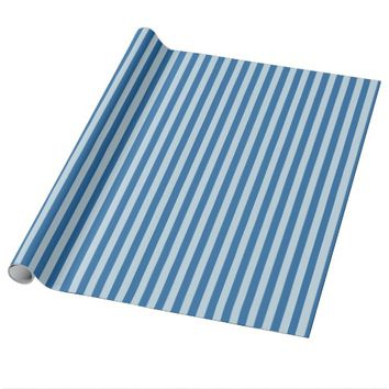 Cool Blue Stripe Wrapping Paper