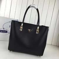 prada women leather shoulder bags satchel tote bag handbag shopping leather tote crossbody 356