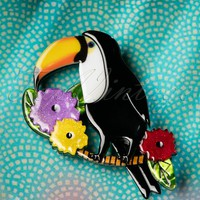 60s Toco Of The Tropics Brooch
