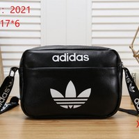 ADIDAS Women Fashion Leather  Satchel Tote Shoulder Bag Handbag