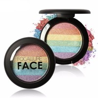 FOCALLURE Rainbow Highlighter Glow Shimmer Pressed Powder ( purchase via ohsnapinc.com if not available on Wanelo) In Stock