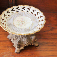 Vintage Upcycled Cupcake Plate, Soap Dish, Etc.