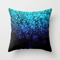 Blendeds III Glitterest Throw Pillow by Rain Carnival