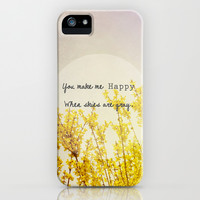You Make Me Happy When Skies Are Gray iPhone & iPod Case by Olivia Joy StClaire