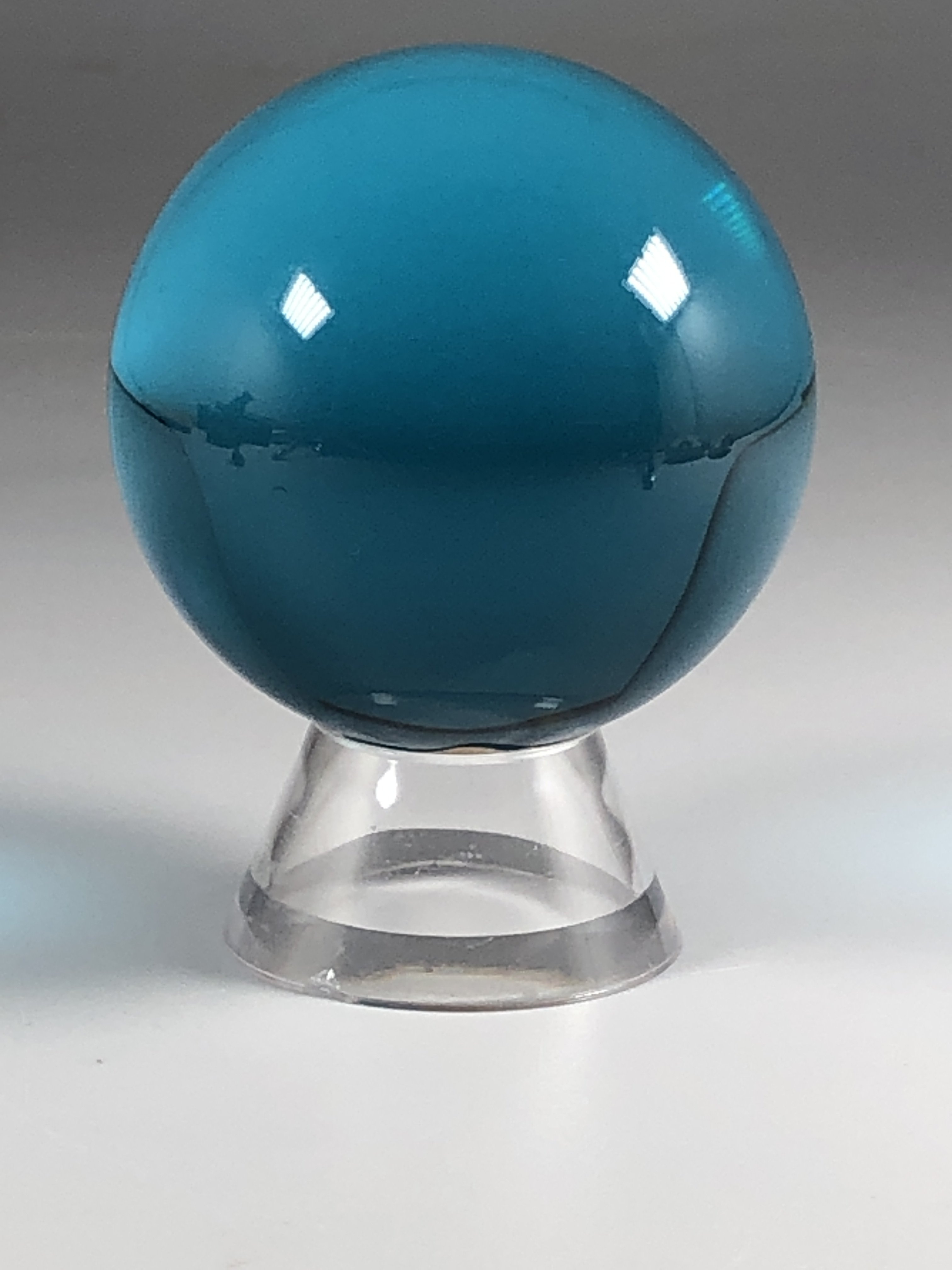 Image of Into The Depths Aqua Crystal Sphere & Stand