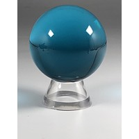 Into The Depths Aqua Crystal Sphere & Stand