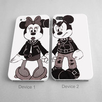 Minnie And Mickey Mouse Punk Rock Couples Phone Case iPhone 4/4S, 5/5S, 5C Series, iPhone 6, 6plus - Hard Plastic, Rubber Case