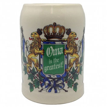 Ceramic Beer Stein German Gift For Oma