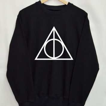 Harry Potter Deathly Hallows shirt Clothing Sweater Sweatshirt Top Tumblr Fashion Slogan Funny Jumper