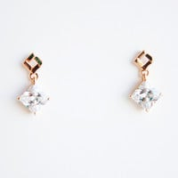 18K Rose Gold plated Austrian crystal earrings