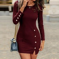 Long Sleeve Sweater Dress