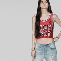 Petals and Peacocks Exclusively for Wildfang Red Crop Tomboy Tank | Wildfang
