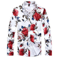 Miami Roses Button Up Shirt