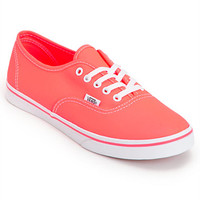Vans Women's Authentic Lo Pro Neon Coral Shoe