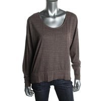 Fluxus Womens Knit Oversized Pullover Top