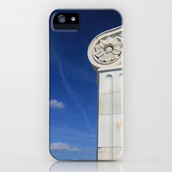 Photographic Art Print iPhone 6, 5, 4 and 3 Cases, Samsung Galaxy Cases, Blue Sky and Marble Classical Architecture Art Print Phone Cover