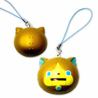 Youkai Watch Character Squishy Mascot Cell Phone Strap (Small / Gorunyan)