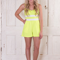 Tennis Anyone With A Twist - Neon Yellow