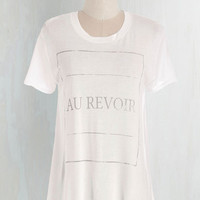French Mid-length Ta Ta for Wow Tee by ModCloth