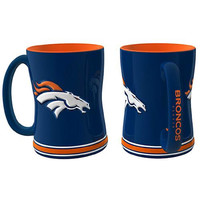 Denver Broncos NFL Coffee Mug - 15oz Sculpted (Single Mug)