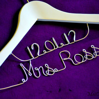 SALE Personalize Bridal Hanger Two Line