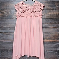 floral crochet lace cap sleeve summer dress (more colors)
