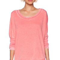 Chaser Drape Back Pullover in Pink