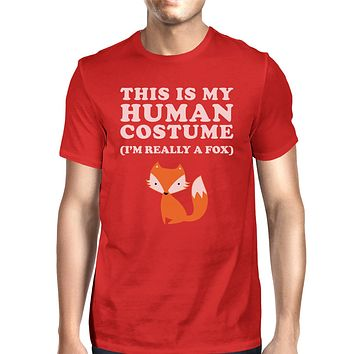 This Is My Human Costume Fox Mens Red Shirt