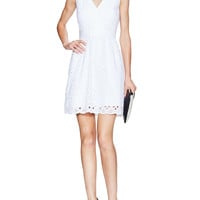 Eyelet Fit & Flare Dress